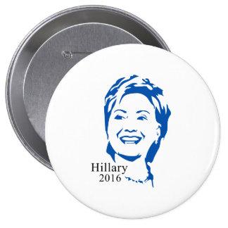 Voto Hillary Clinton de Hillary 2016 para el Pin Redondo De 4 Pulgadas