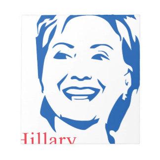 Voto Hillary Clinton de HIllary el 2016% el pipe% Bloc De Notas