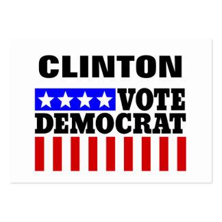 Voto Hillary Clinton Democatic para el presidente Tarjetas De Visita Grandes