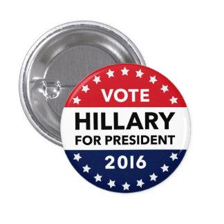 Voto Hillary Clinton para el presidente Pin 2016