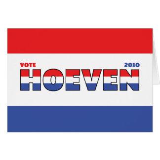 Voto Hoeven 2010 elecciones blanco y azul rojos Tarjeta De Felicitación