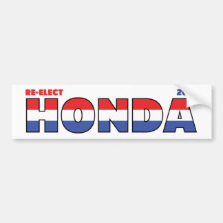 Voto Honda 2010 elecciones blanco y azul rojos Pegatina Para Auto