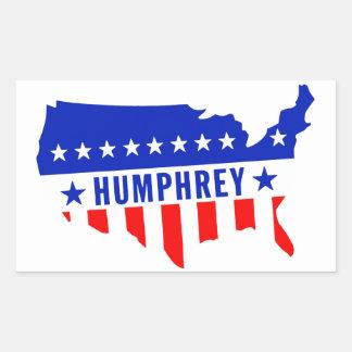 Voto Hubert Humphrey Pegatina Rectangular