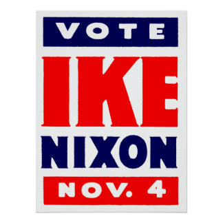 Voto Ike, Nixon en 1952 Posters