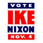 Voto Ike, Nixon en 1952 Postales