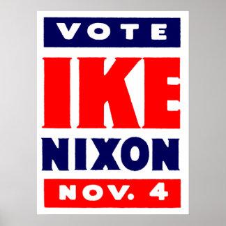 Voto Ike Nixon en 1952 Posters