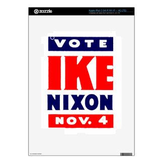 Voto Ike, Nixon en 1952 iPad 3 Pegatina Skin