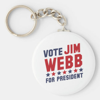 Voto Jim Webb Llavero Redondo Tipo Pin