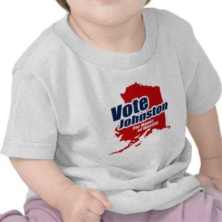 Voto Johnston para el alcalde Camiseta