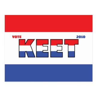 Voto Keet 2010 elecciones blanco y azul rojos Postal