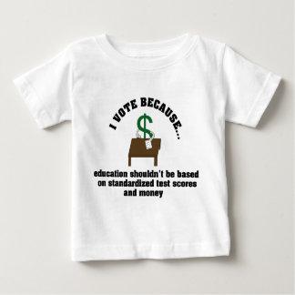Voto la camisa del niño de la educación