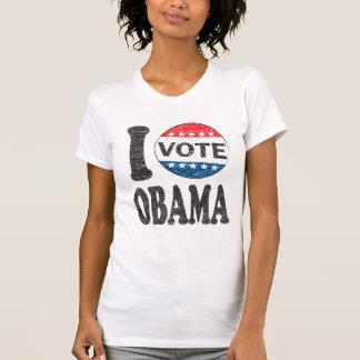 Voto la camiseta de las mujeres retras de Obama 20