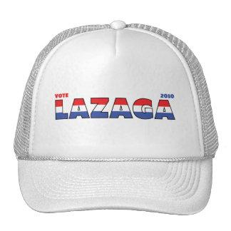 Voto Lazaga 2010 elecciones blanco y azul rojos Gorras De Camionero