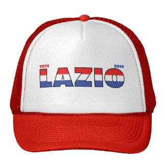 Voto Lazio 2010 elecciones blanco y azul rojos Gorras