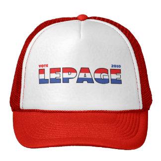 Voto LePage 2010 elecciones blanco y azul rojos Gorras