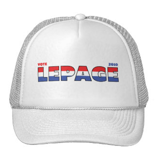 Voto LePage 2010 elecciones blanco y azul rojos Gorras De Camionero