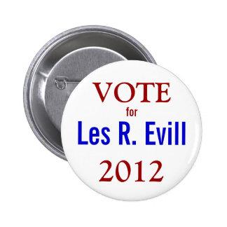 Voto Les R. Evill Button Pin