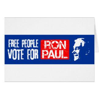 Voto libre de la gente para Ron Paul Felicitacion