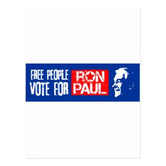 Voto libre de la gente para Ron Paul Postales