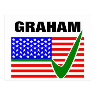 Voto Lindsey Graham para el presidente 2016 Tarjetas Postales