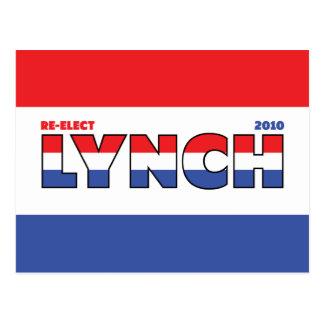 Voto Lynch 2010 elecciones blanco y azul rojos Tarjetas Postales