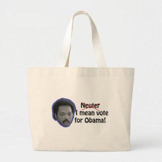 ¡Voto malo Neutral-Yo para Obama! Bolsa Lienzo