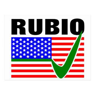 Voto Marco Rubio para el presidente 2016 Tarjetas Postales
