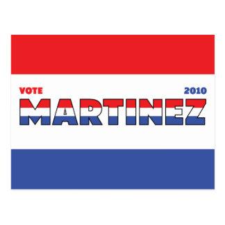 Voto Martínez 2010 elecciones blanco y azul rojos Postales