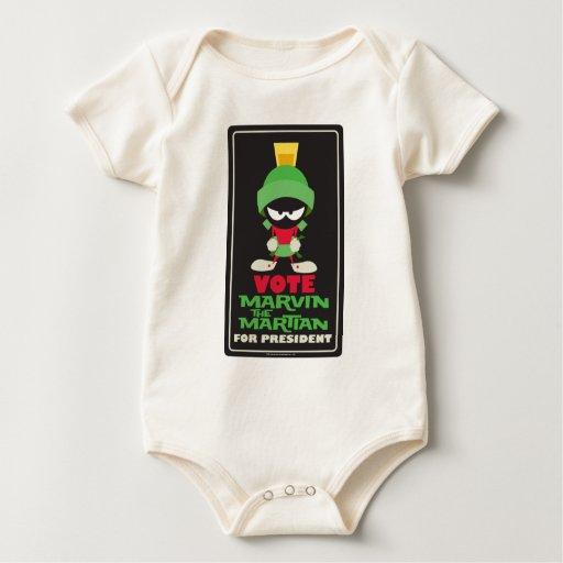 Voto MARVIN EL MARTIAN™ para el presidente Body De Bebé