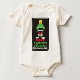 Voto MARVIN EL MARTIAN™ para el presidente Body Para Bebé