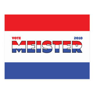 Voto Meister 2010 elecciones blanco y azul rojos Postal