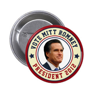 Voto Mitt Romney para el presidente 2012 Pin Redondo De 2 Pulgadas
