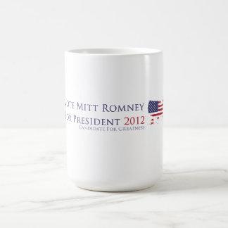 Voto Mitt Romney para el presidente 2012 Taza De Café