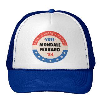 Voto Mondale/Ferraro '84 Gorras