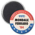 Voto Mondale/Ferraro '84 Imán