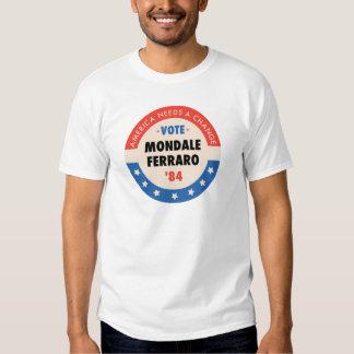 Voto Mondale/Ferraro '84 Poleras