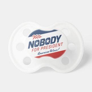 Voto nadie pacificador chupetes de bebé