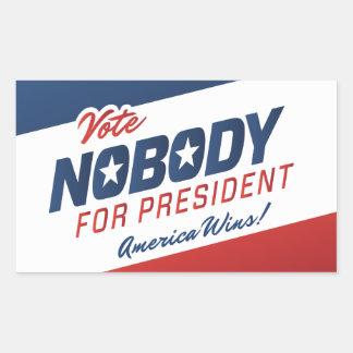 Voto nadie para presidente Stickers Rectangular Pegatinas