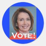 Voto Nancy Pelosi Pegatinas