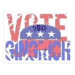 Voto Newt Gingrich 2012 Tarjetas Postales