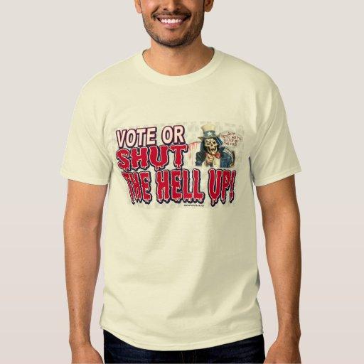 Voto o cerrada camisa