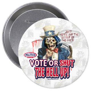 Voto o cerrado botón pin