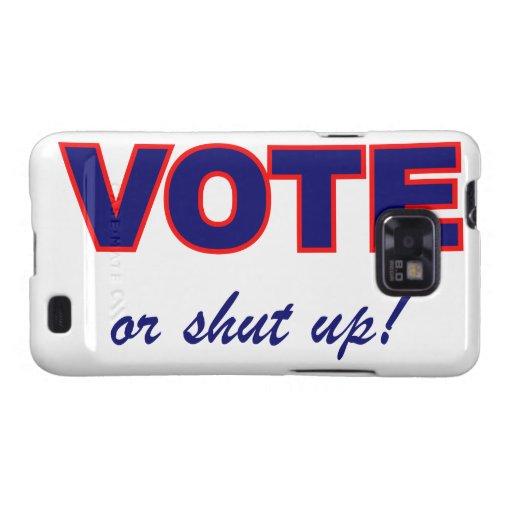 Voto o cerrado para arriba galaxy SII carcasas