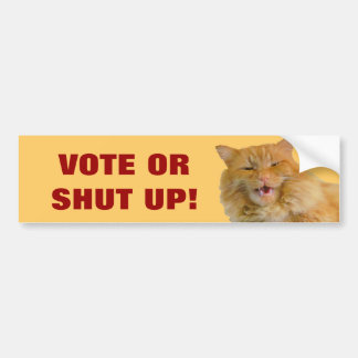voto o cerrado para arriba pegatina para auto