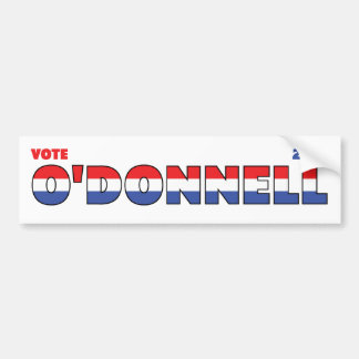 Voto O Donnell 2010 elecciones blanco y azul rojos Pegatina De Parachoque