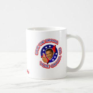 voto obama '08 taza básica blanca