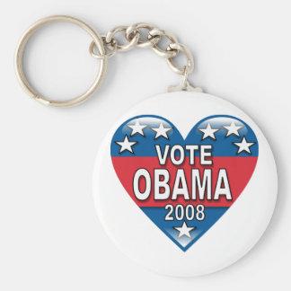 Voto Obama 2008 Llaveros Personalizados