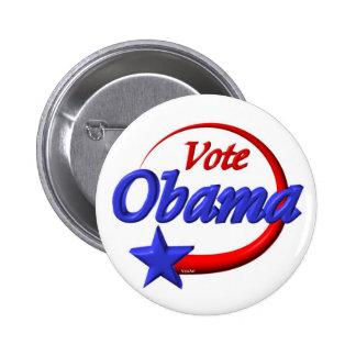 Voto Obama 2012. Cree el futuro Pin Redondo De 2 Pulgadas