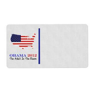 Voto Obama 2012 Etiqueta De Envío