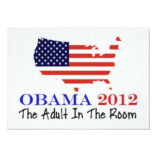 """Voto Obama 2012 Invitación 5"""" X 7"""""""